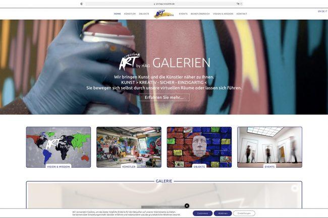 dh+ | Website Art-Crosslink Galerien